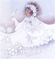 Snow Princess Greeting Card